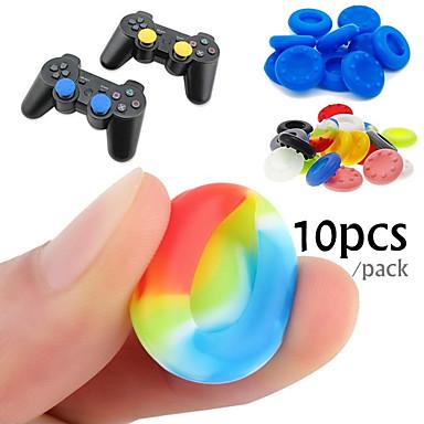 ieftine Accesorii Jocuri Video-10 cauciuc siliconic joc controler degetul mare stick-uri pentru PS4 ultra-subțire Xbox un xbox 360 wii u controler