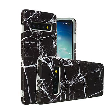 voordelige Galaxy S-serie hoesjes / covers-hoesje Voor Samsung Galaxy Galaxy S10 / Galaxy S10 Plus / Galaxy S10 E IMD / Patroon Achterkant Marmer Zacht TPU
