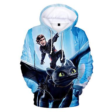 cheap Boys' Hoodies & Sweatshirts-Kids Toddler Boys' Active Print Print Long Sleeve Hoodie & Sweatshirt Blue