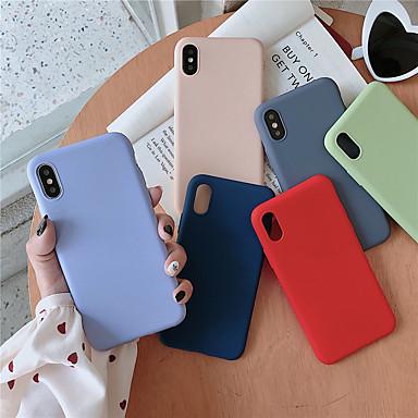 Недорогие Кейсы для iPhone-чехол для яблока iphone xr / iphone xs max матовая задняя крышка сплошное цветное мягкое тпу для iphone 6 6 плюс 6s 6s плюс 7 8 7 плюс 8 плюс x xs