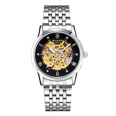 Χαμηλού Κόστους Ανδρικά ρολόγια-Ανδρικά μηχανικό ρολόι Αυτόματο κούρδισμα Ανοξείδωτο Ατσάλι Λευκή / Χρυσό 30 m Εσωτερικού Μηχανισμού Νυχτερινή λάμψη Αναλογικό Βίντατζ Σκελετός - Χρυσαφί+Μαύρο Χρυσαφί+Άσπρο Ασημένιοι / λευκό