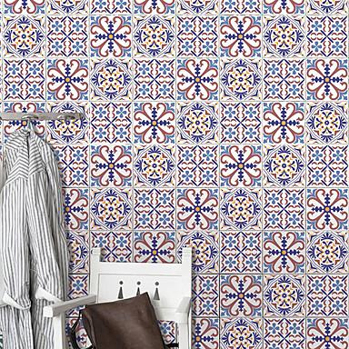mode blomstermønstre pvc vandtæt selvklæbende væg klistermærker - væg væg klistermærker transport / landskab studie værelse / kontor / spisestue / køkken