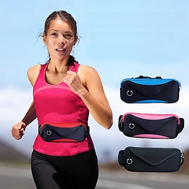 voordelige Universele hoesjes & tasjes-zak taille mannen en vrouwen reizen dubbele sport waterdichte verstelbare reistas zakken 6 inch