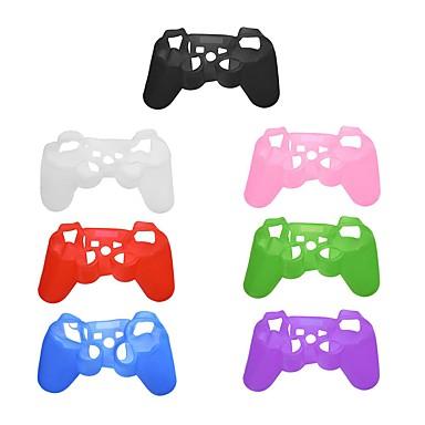 olcso Videojáték tartozékok-puha, rugalmas szilikonfedél védőbőr tok a PS3 játékvezérlőhöz