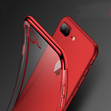 voordelige iPhone 7 hoesjes-hoesje Voor Apple iPhone XS / iPhone XR / iPhone XS Max Schokbestendig / Beplating Achterkant Effen Zacht TPU