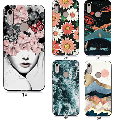 voordelige Huawei Y-serie hoesjes / covers-hoesje Voor Huawei Huawei Honor 10 / Huawei Honor 9 Lite / Honor 7A Patroon Achterkant Sexy dame / Bloem Zacht TPU
