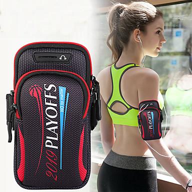 voordelige Hoesjes / covers voor Sony-unisex armtas sporttas sport sporttas jogging sportschoolarm met houder tas mobiele telefoon sleutelzak 6.4 inch