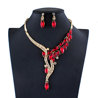 2bd08cdfa96 cheap Jewelry Sets-Women's Blue Red Gray Bridal Jewelry Sets  Geometrical