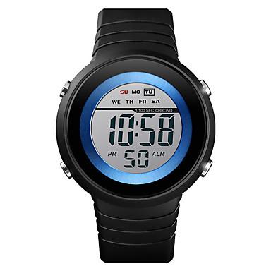 זול שעוני גברים-SKMEI בגדי ריקוד גברים שעון דיגיטלי דיגיטלי גומי שחור 50 m עמיד במים לוח שנה שעון עצר דיגיטלי יום יומי חוץ - שחור / לבן שחור / כחול לבן / כחול