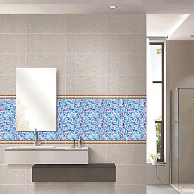 mode farve geometri mønster pvc vandtæt selvklæbende væg klistermærker - væg væg klistermærker transport / landskab studie værelse / kontor / spisestue / køkken