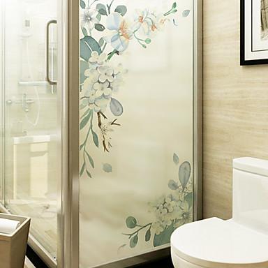 blomst aftagelig PVC vindue film&ampampe klistermærker dekoration geometrisk