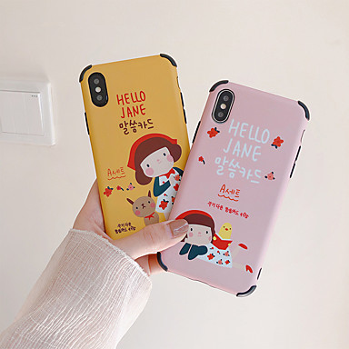 voordelige iPhone 7 hoesjes-hoesje Voor Apple iPhone XS / iPhone XR / iPhone XS Max IMD / Patroon Achterkant Cartoon Zacht TPU