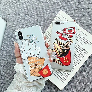voordelige iPhone 6 hoesjes-hoesje Voor Apple iPhone XS / iPhone XR / iPhone XS Max Transparant / Patroon Achterkant Transparant / Cartoon Zacht TPU / PC