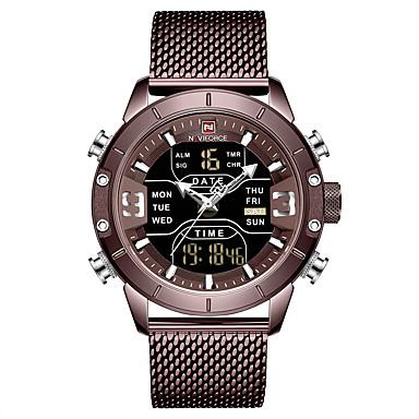 Χαμηλού Κόστους Ανδρικά ρολόγια-NAVIFORCE Ανδρικά Στρατιωτικό Ρολόι Ρολόι Ναυτικού Σφραγίδα Χαλαζίας Ανοξείδωτο Ατσάλι Μαύρο / Μπλε / Ασημί 30 m Συναγερμός Ημερολόγιο Χρονογράφος Αναλογικό-Ψηφιακό Υπαίθριο Μοντέρνα - / Δύο χρόνια