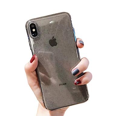 voordelige iPhone X hoesjes-hoesje voor apple iphone xr / iphone xs max glitter shine / transparent achterkant effen gekleurde zachte tpu voor iphone x xs 8 8plus 7 7 plus 6 6 plus 6s 6s plus