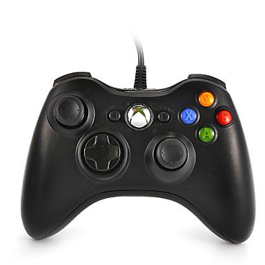 olcso Xbox 360 tartozékok-duafire vezetékes usb vezérlő számítógéphez& xbox 360 (fekete)