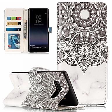 voordelige Galaxy Note-serie hoesjes / covers-case voor Samsung Galaxy Note 8 / note 9 / s9 plus portemonnee / kaarthouder full body cases schedel / tegel zacht TPU / PU leer voor noot 8 / noot 9