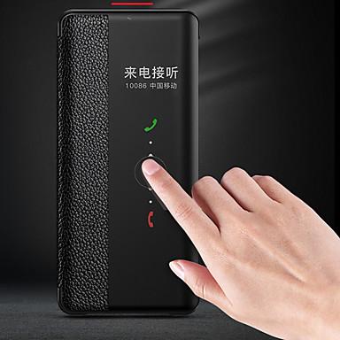 voordelige Huawei Mate hoesjes / covers-geval voor huawei huawei mate 20 pro / huawei mate 20 auto slaap / wake up / flip achterkant professionele kleur hard leer voor mate 10 / mate 10 pro / huawei mate 20 pro p30 p30por p20 p20pro