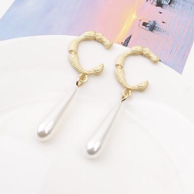 4fedad9bd4f1 abordables Pendientes-Mujer Pendientes colgantes Pendiente cuelga los  pendientes Perla Artificial Aretes Gota De moda