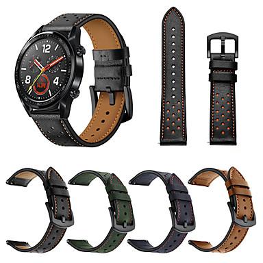 Недорогие Ремешки для часов Huawei-Ремешок для часов для Huawei Watch GT / Watch 2 Pro Huawei Спортивный ремешок Натуральная кожа Повязка на запястье