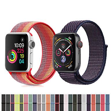 Недорогие Ремешки для Apple Watch-Нейлон петля ремешок для часов браслет ремешок на запястье для Apple, часы серии 4/3/2/1 умные часы