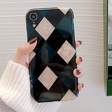 voordelige iPhone 6 Plus hoesjes-hoesje Voor Apple iPhone XS / iPhone XR / iPhone XS Max Schokbestendig / Stofbestendig / Waterbestendig Achterkant Geometrisch patroon Zacht TPU