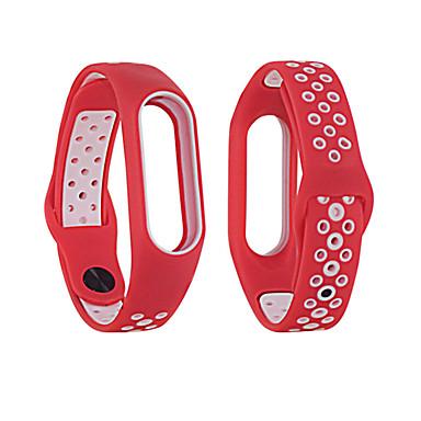 levne Pánské-dvojitý barevný pásek na zápěstí pro xiaomi mi band 3/4 hodinky elegantní náramek kapela vodotěsný kryt silikonový pásek na hodinky
