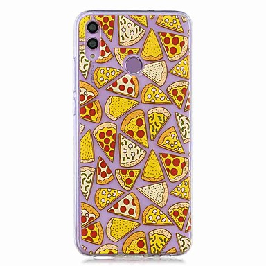 voordelige Huawei Mate hoesjes / covers-hoesje voor huawei honor 8x / huawei p smart (2019) patroon / transparante achterkant pizza soft tpu voor mate20 lite / mate10 lite / y6 (2018) / p20 lite / nova 3i / p smart / p20 pro