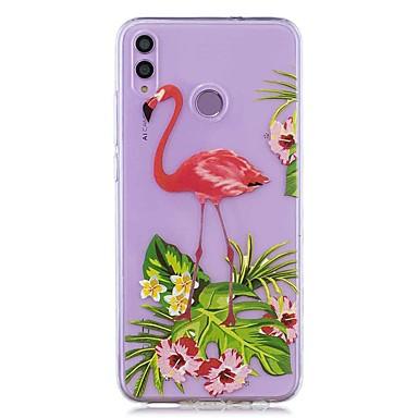 voordelige Huawei Y-serie hoesjes / covers-hoesje voor huawei honor 8x / huawei p smart (2019) patroon / transparante achterkant bloem flamingo zachte tpu voor mate20 lite / mate10 lite / y6 (2018) / p20 lite / nova 3i / p smart / p20 pro