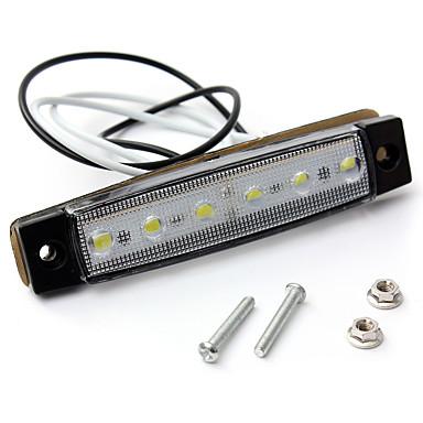 voordelige Motorverlichting-sencart 4st witte truck zijmarkeringslicht ovaal chroom 6 led 12v
