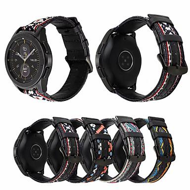 Недорогие Часы для Samsung-ремешок для часов из натуральной кожи для снаряжения sport / gear s2 / gear s2 classic samsung galaxy sport band / стильная нейлоновая пряжка / ремешок на запястье