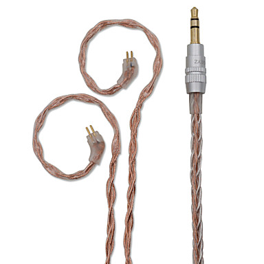 billige Kabler og adaptere-BQEYZ 3,5 mm audio jack Adapterkabel, 3,5 mm audio jack til 3,5 mm audio jack / 3,5 mm lyd Adapterkabel Kvinne mann Forgylt kobber 1,2 m (4 fot)