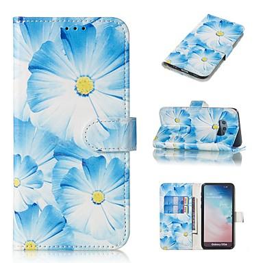 Недорогие Чехлы и кейсы для Galaxy S6-Кейс для Назначение SSamsung Galaxy S9 / S9 Plus / S8 Plus Кошелек / Бумажник для карт / со стендом Чехол Цветы Твердый Кожа PU