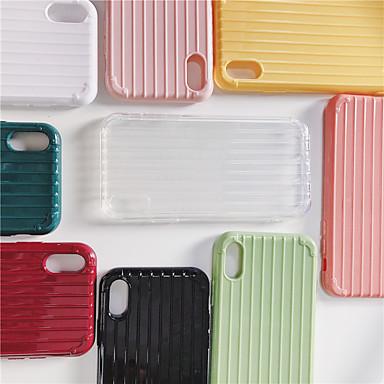 voordelige iPhone 6 Plus hoesjes-hoesje voor Apple iPhone XS Max / iPhone X Ultradun / IMD Achterkant Effen Zachte TPU voor iPhone 6 / iPhone 6 Plus / iPhone 6S