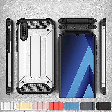voordelige Galaxy A-serie hoesjes / covers-Schokbestendig cover telefoon case voor samsung galaxy a50 a70 a40 a30 a10 a20e rubber armor hybrid pc hard cover voor a7 2018 a8 plus 2018 a8 2018 a6 plus 2018 a6 2018 siliconen tpu case