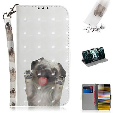 voordelige Hoesjes / covers voor Sony-hoesje Voor Sony Sony Xperia L3 / Sony Xperia 10 / Sony Xperia 10 Plus Portemonnee / Kaarthouder / met standaard Volledig hoesje dier / 3D Cartoon PU-nahka