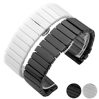 voordelige Horlogebandjes voor Samsung-Horlogeband voor Gear S3 Frontier / Gear S3 Classic / Gear S3 Classic LTE Samsung Galaxy Butterfly Buckle Keramiek Polsband
