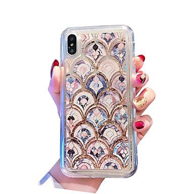 voordelige iPhone-hoesjes-hoesje Voor Apple iPhone XS / iPhone XR / iPhone XS Max Schokbestendig / Stofbestendig / Waterbestendig Achterkant Landschap / dier / Glitterglans Zacht TPU / PC / Stromende vloeistof