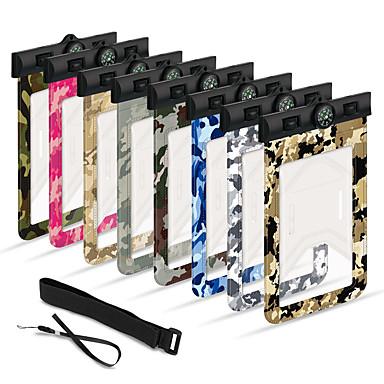 voordelige iPhone X hoesjes-hoesje Voor Apple iPhone XS / iPhone XR / iPhone XS Max Waterbestendig Waterdicht etui Geometrisch patroon Zacht PVC