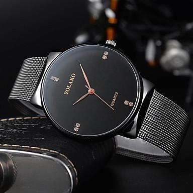 Недорогие Часы на металлическом ремешке-Муж. Нарядные часы Кварцевый Формальный Стильные Нержавеющая сталь Черный / Золотистый / Розовое золото 30 m Защита от влаги Новый дизайн Cool Аналоговый На каждый день Мода -  / Один год