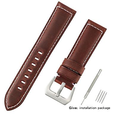 Χαμηλού Κόστους Ανδρικά ρολόγια-γνήσιο δέρμα / Τρίχα Μοσχαριού Παρακολουθήστε Band Λουρί για Μαύρο / Μπλε / Καφέ 20 εκατοστά / 7.9 ίντσες 2.2cm / 0.9 Ίντσες / 2.4cm / 0.94 Ίντσες / 2.6cm / 1.02 Ίντσες