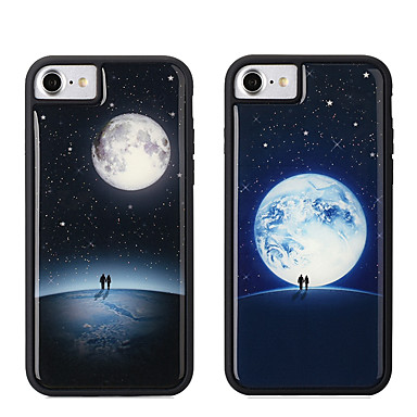 voordelige iPhone X hoesjes-hoesje Voor Apple iPhone XS / iPhone XR / iPhone XS Max Glow in the dark / Schokbestendig Achterkant Geometrisch patroon Zacht TPU / PC