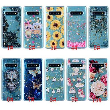 voordelige Galaxy Note-serie hoesjes / covers-hoesje Voor Samsung Galaxy Note 9 / Note 8 Schokbestendig / Transparant / Patroon Achterkant Vlinder / Doodskoppen / Bloem Zacht TPU