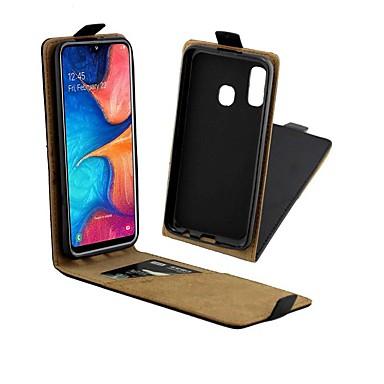 voordelige Galaxy A-serie hoesjes / covers-hoesje Voor Samsung Galaxy A6 (2018) / A6+ (2018) / Galaxy A7(2018) Kaarthouder / Schokbestendig / Flip Volledig hoesje Effen Hard aitoa nahkaa