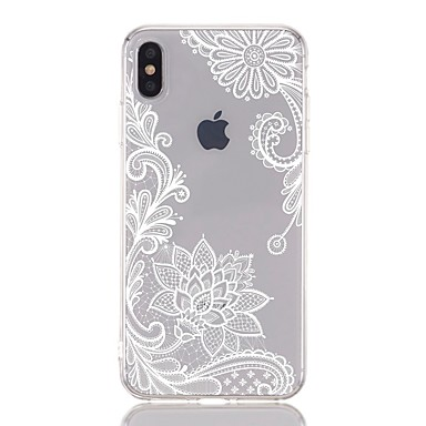 voordelige iPhone 7 hoesjes-hoesje Voor Apple iPhone XS / iPhone XR / iPhone XS Max Schokbestendig / Transparant / Patroon Achterkant Bloem Zacht TPU