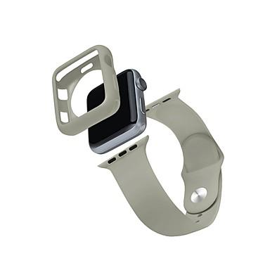 Недорогие Корпуса Apple Watch с ремешком-Чехол с ремешком Назначение Apple Watch Series 4/3/2/1 ТПУ / Силикон Совместимость Apple