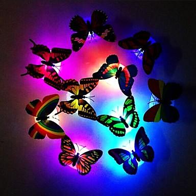 modă 7 culori schimbătoare drăguț fluture condus lumina de noapte acasă cameră birou perete decor 1pc