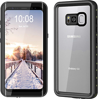 voordelige Galaxy S-serie hoesjes / covers-hoesje Voor Samsung Galaxy S8 Plus / S8 Waterbestendig / Stofbestendig Volledig hoesje Effen Hard Aluminium