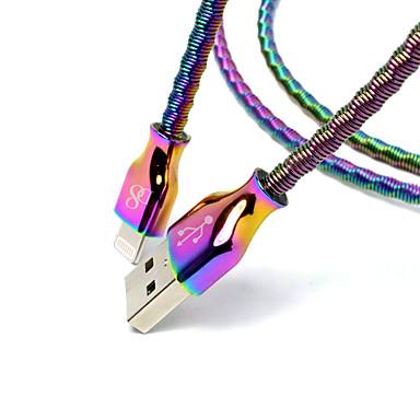povoljno Mac kabeli-d8 mfi kabel munja mikro usb / kabel munje 1m (3ft) kabel za punjenje od nehrđajućeg metala podatkovni kabel kabel za brzo punjenje za iPhone / ipad / ipod