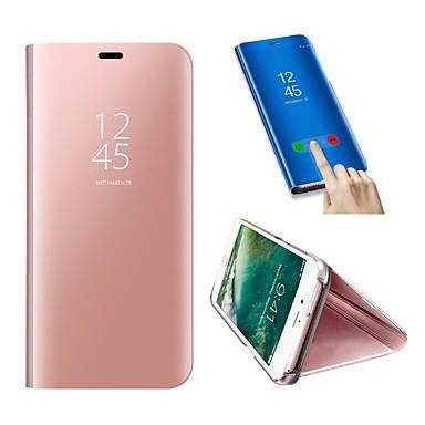 Недорогие Чехлы и кейсы для Galaxy S6-Кейс для Назначение SSamsung Galaxy S9 / S9 Plus / S8 Plus Защита от удара / со стендом Чехол Однотонный Твердый Кожа PU / пластик